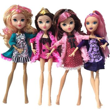 Fashion Set Clothes For Monster High Dolls Dress Party Dresses Vestidos Casual Clothes For Monster Doll Kid Toys