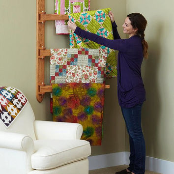 Swinging Arm Quilt Rack