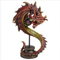Shadow Hydra Gothic Dragon Statue - Design Toscano