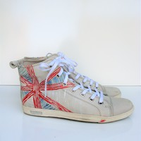 Felmini Leather Union Jack High Top Sneakers 10