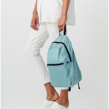 Teal Ripstop Compact Backpack
