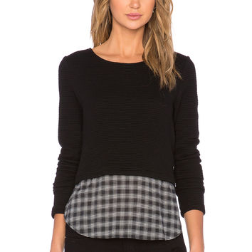 Generation Love Coco Plaid Sweater in Black & Plaid
