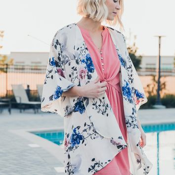 Sun Kissed Coverup in Ivory Floral