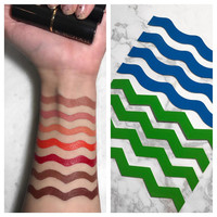 Makeup Swatch Stencil (Zig-Zag or Squiggle Lines)