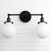 Globe Light Fixture - Wall Light - Vanity Light - Globe Vanity Light - Wall Mount Light - Bathroom Lighting - Hardwire Vanity