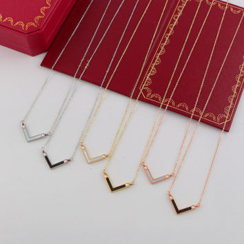 Shiny Jewelry Stylish Gift New Arrival Korean Simple Design Titanium Accessory Gifts Necklace [6411769412]