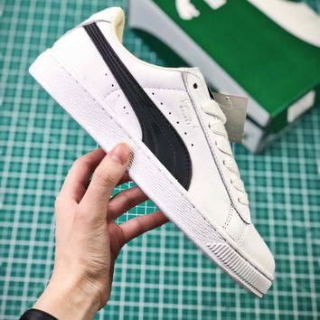 Puma Basket Classic White Black Sneakers - Best Online Sale