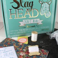 Fabric Stag Head Craft Kit