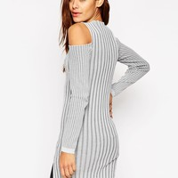 ASOS Knitted Tunic with Cold Shoulder