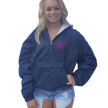 CUSTOM Monogram Pullover Jacket -- Sorority/Fraternity Letters or Initials!
