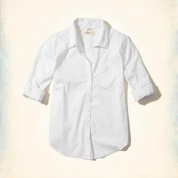 Girls Button-Front Woven Shirt | Girls Tops | HollisterCo.com