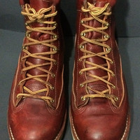 Danner 11700 Super Rain Forest 8 Burgundy Leather Work Boots Men's Size 10.5