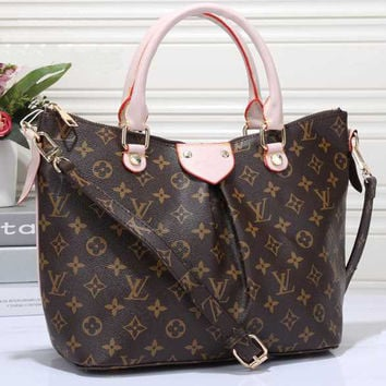 LV Women Shopping Leather Tote Crossbody Satchel Shoulder Bag