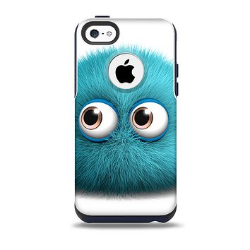 The Teal Fuzzy Wuzzy Skin for the iPhone 5c OtterBox Commuter Case