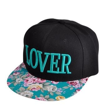 Women's Stylish Design Floral Flatbill Visor Snapback Baseball Hat