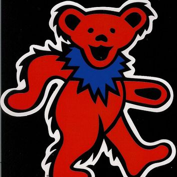 Grateful Dead - Red Dancing Bear Sticker