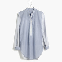 Wellspring Tunic Popover Shirt in Stripe Mix