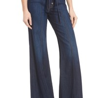 7 For All Mankind® High Rise Wide Leg Jeans (Luxe Lounge Deep Blue) | Nordstrom