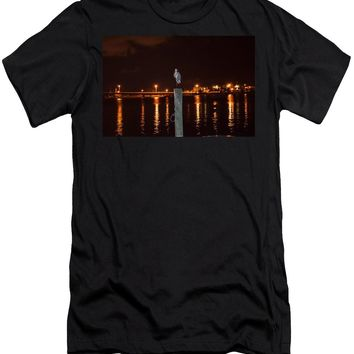 Blue Heron Night - Men's T-Shirt (Athletic Fit)