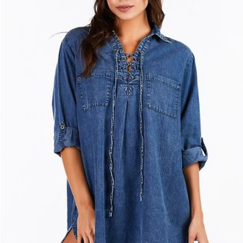 Dom Denim Tunic Dress