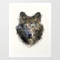 Wolf // Secure Art Print by Amy Hamilton