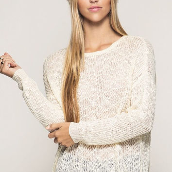 Cozy Country Cottage Sweater - Cream