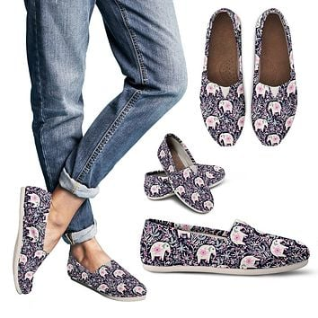 Floral Elephant Casual Shoes