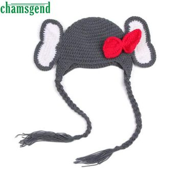 Baby  Elephant Knit Crochet Winter Hat