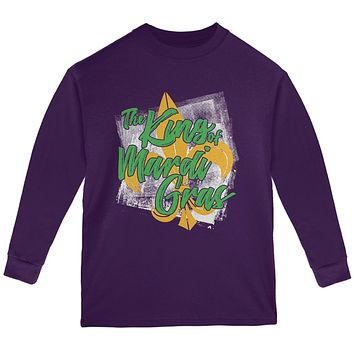 The King of Mardi Gras Youth Long Sleeve T Shirt