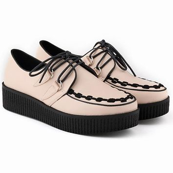 Fashion High Platform Wedges Lace Up Women's Shoes