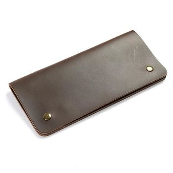 ALACCHNV Men's Long Leather Cowhide Leather Wallet Handmade Retro Simple Women's Phone Bag F-8062