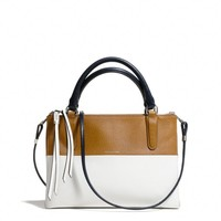 THE MINI BOROUGH BAG IN COLORBLOCK RETRO BOARSKIN LEATHER
