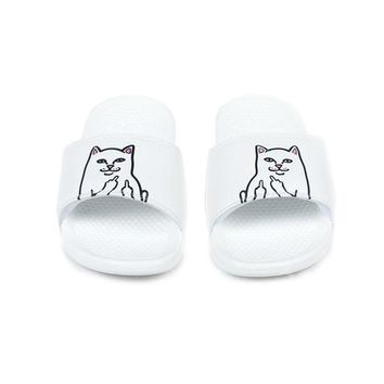 Lord Nermal Slides (White) | RIPNDIP