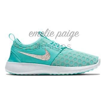 Nike Juvenate (Teal) running shoes with Swarovski Crystals