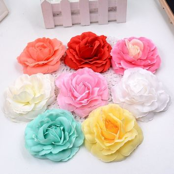 5pcs/lot Artificial high quality silk roses head home decoration wedding shoes headdre