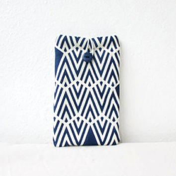 Iphone 6 plus sleeve, hand printed fabric, Sony Xperia Z ultra, IPhone case, smart phone cover, fabric phone sleeve, handmade in the Uk