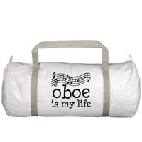 Oboe is My Life Music Gift Gym Bag> Oboe is My Life Music Staff Gifts and Shirts> www.cafepress.com/milestonesmusic - Music Tshirts