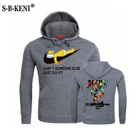 JUST DO IT Letter Printing Mans Hoodies Autumn Winter Fashion Brand Hoodie Men Streetwear hip-hop Tracksuits Male Sweatshirts