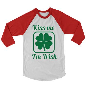 Kiss Me I'm Irish Baseball Shirt.