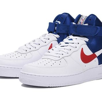 HCXX 19Nov 160 Nike Air Force 1 High 07 LV8  NBA Clippers Monk Strap Women Men Sneakers Casual Skate Shoes
