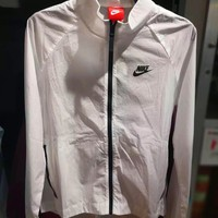 """NIKE"" Women Fashion Front Back Zipper Cardigan Sweatshirt Jacket Coat Windbreaker Sportswear ( Ultra-thin Breathable) One-nice™"