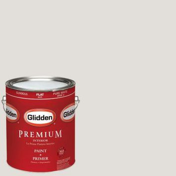 Glidden Premium 1-gal. #HDGWN22U Light Pelican Grey Flat Latex Interior Paint with Primer-HDGWN22UP-01F - The Home Depot