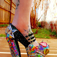 Lollipop Guild Candy Spiked Platform Pump Heels