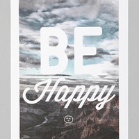 Urban Outfitters - Zach Terrell For Society6 Be Happy Art Print