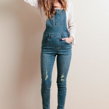 Out And About Denim Overalls | Threadsence