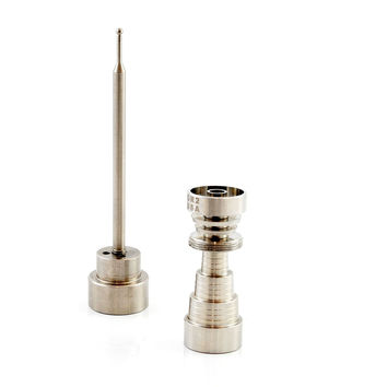 Titanium nail 6 In 1 Universal Domeless M/ F (10 -14- 18)mm + Dabber Carb