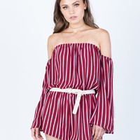 Lined Up Romper