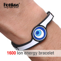 Hottime Eco Power Energy Hologram Bracelets Wristbands Keep Balance Ion Magnetic Therapy Fashion Silicone Bands Free Shipping