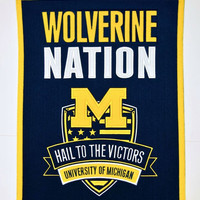 Michigan Wolverines Wool Nations Banner