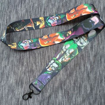 Suicide Squad Harley Quinn & joker Lanyards Neck Strap Keys ID Card Lanyard Mobile Phone holder Cosplay accessories AK-04